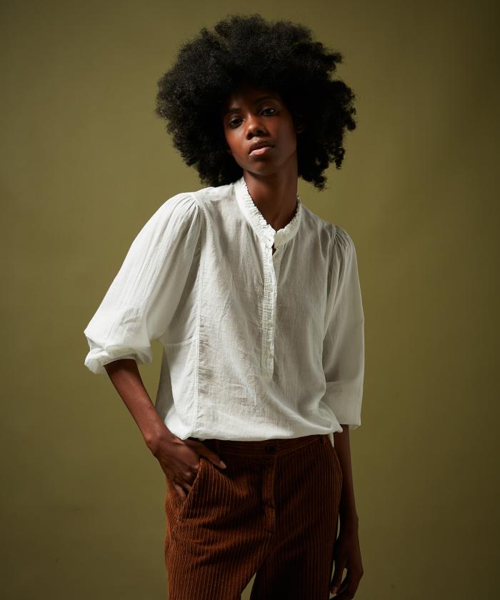 Tee-shirt Tuyet en double-fabric écru