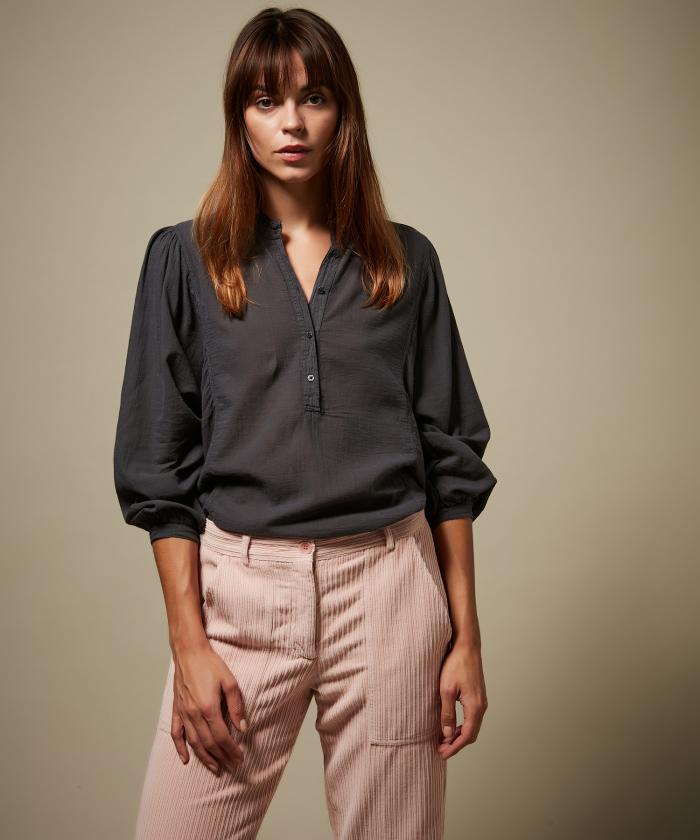Tee-shirt Tuyet en double-fabric graphite