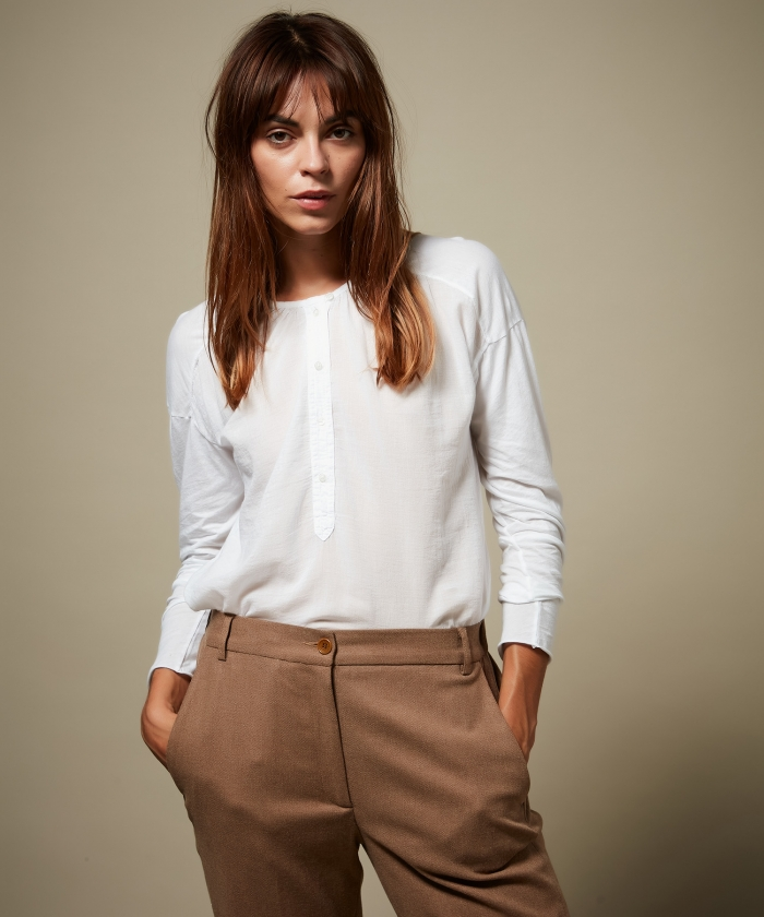 Tee-shirt Tudval en double-fabric blanc