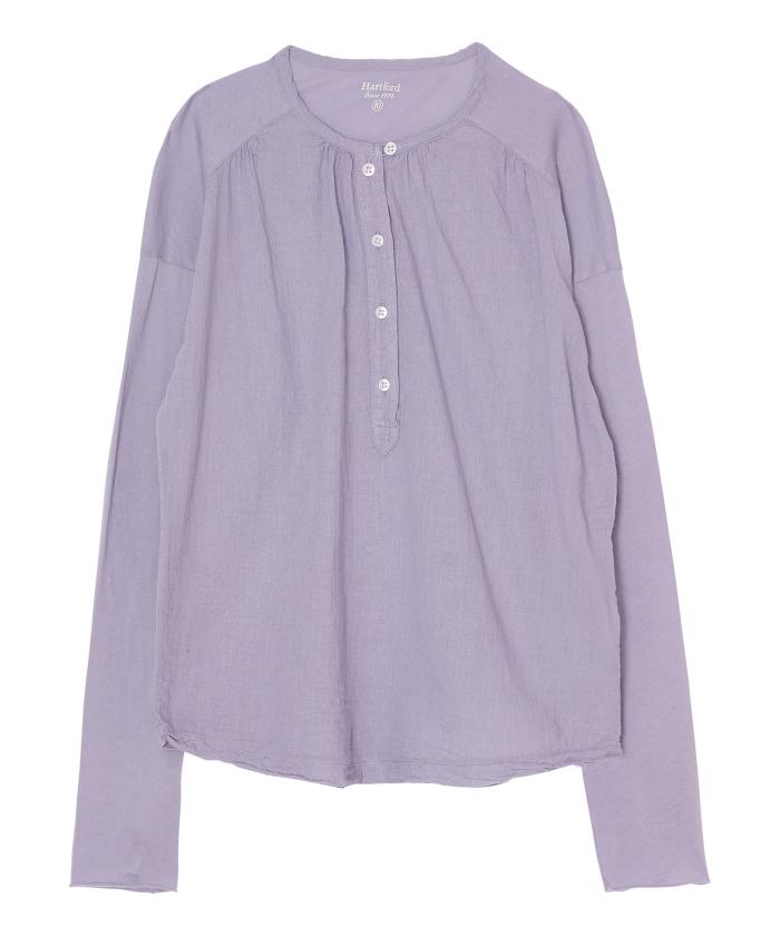 Tee-shirt Tudval en double-fabric lavande