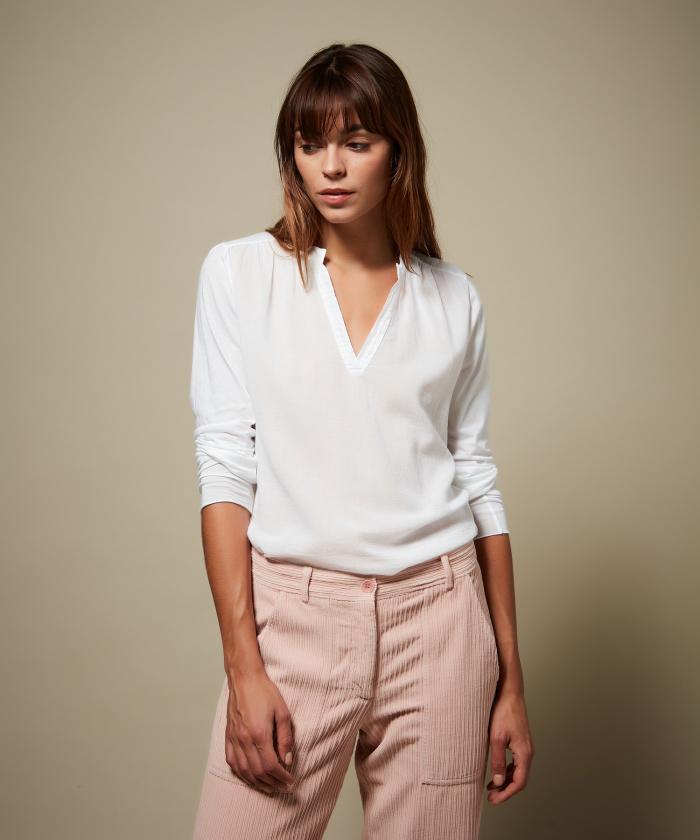 Tee-shirt Turenne en double fabric blanc