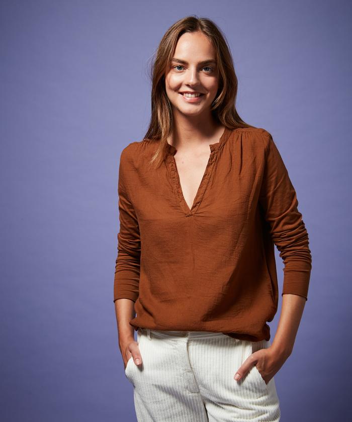 Tee-shirt Turenne en double fabric mocha