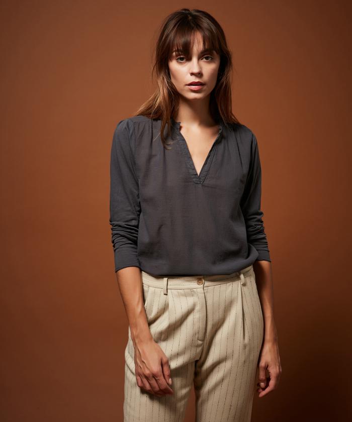 Tee-shirt Turenne en double fabric graphite