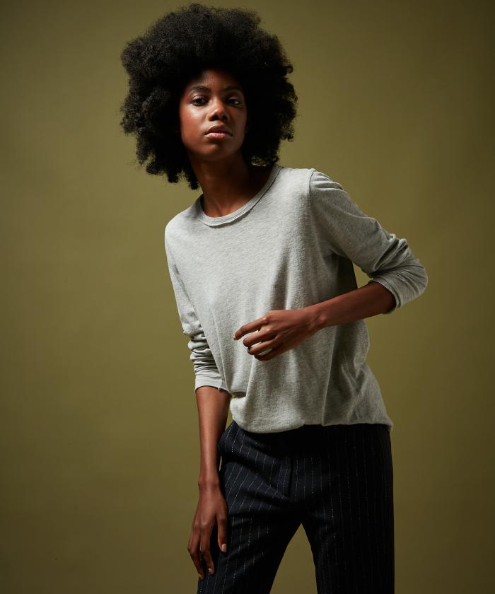 Heather grey Tacko soft cotton modal T-shirt