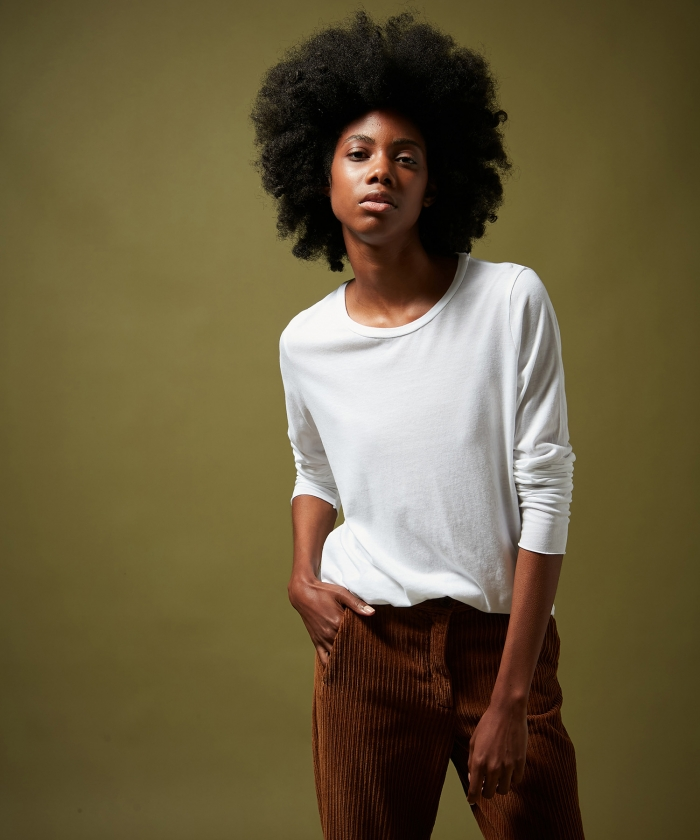 Off-white Tacko soft cotton modal T-shirt