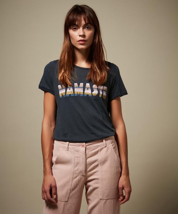 Charcoal Tenori soft cotton modal T-shirt