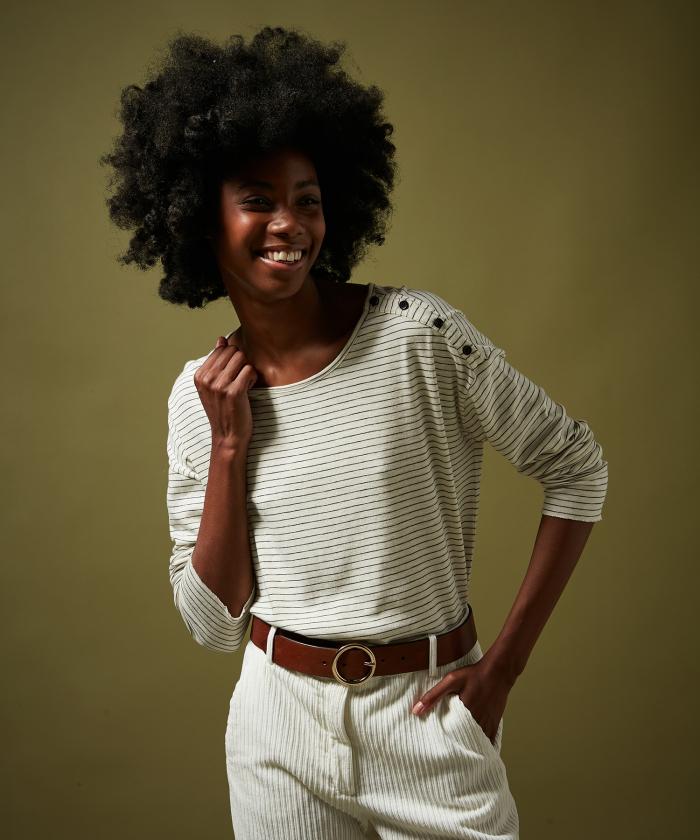 Tee-shirt Tugol en coton rayé