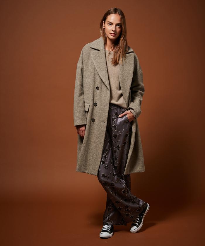 Virgin wool Valois coat