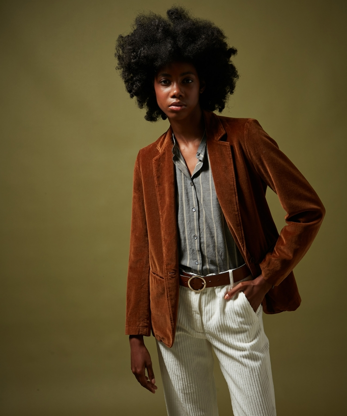 Virna velvet jacket Mocha