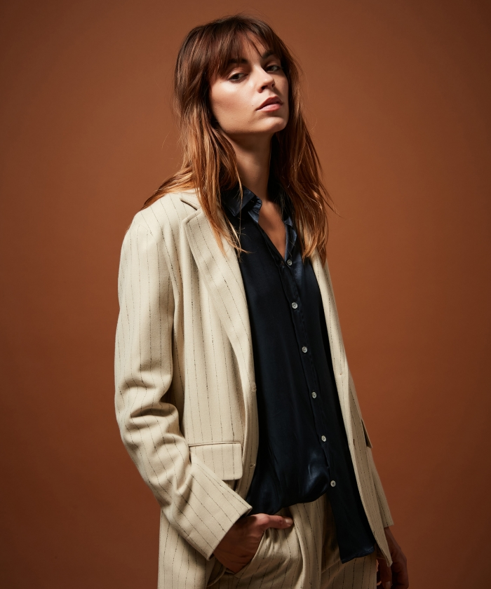 Vivette striped wool jacket