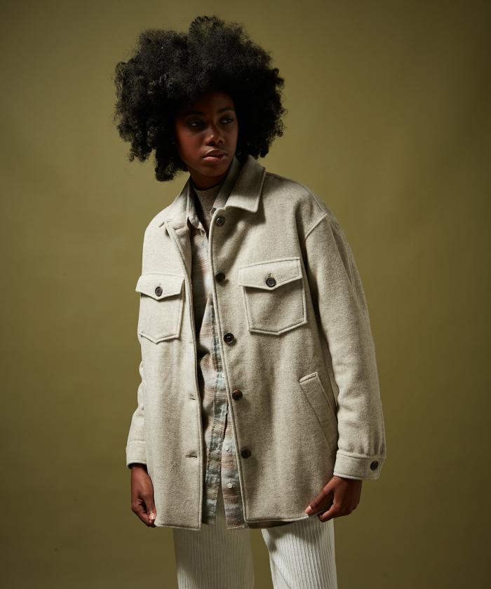 Virgin wool Voltige coat