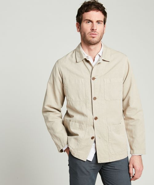 Sand cotton and linen Jacinto chore jacket