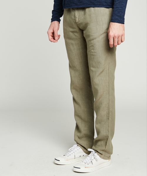 Army green Tanker easy linen pants
