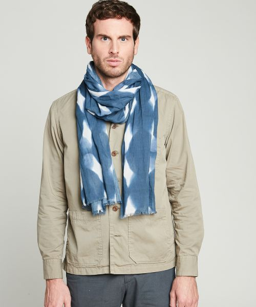 Graphic cotton scarf