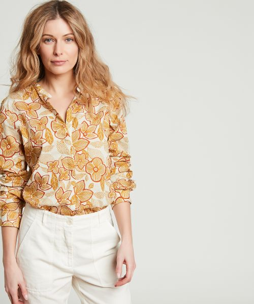 Peanut Carta flowery cotton shirt