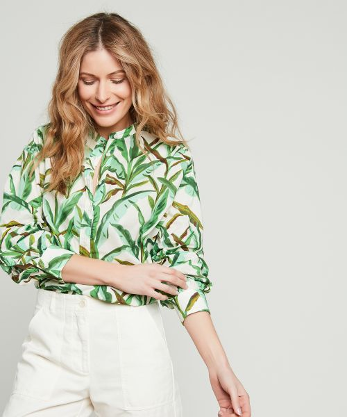 Green printed oversize Cody shirt