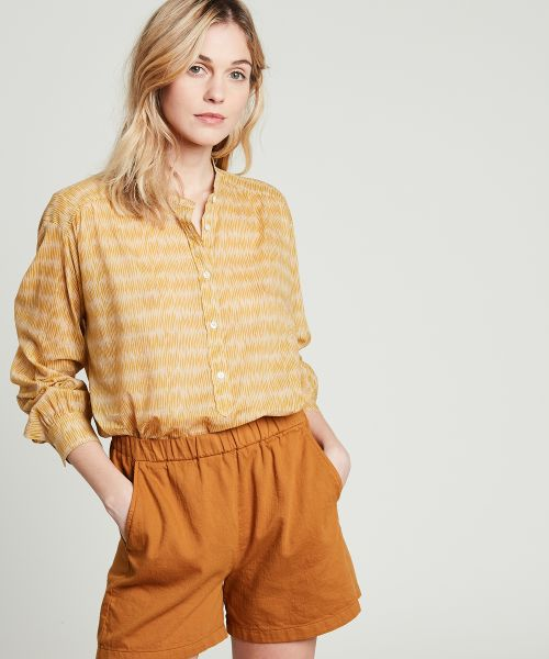 Yellow printed Cody oversize shirt
