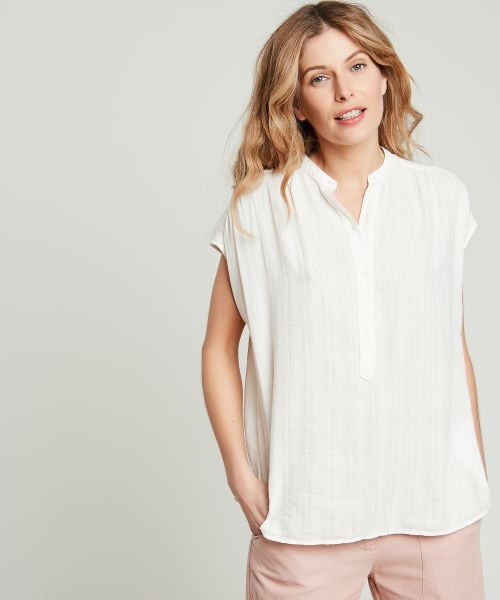 Textured cotton Hamac blouse