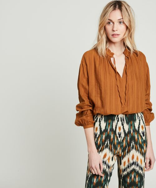 Textured cotton Heaven blouse