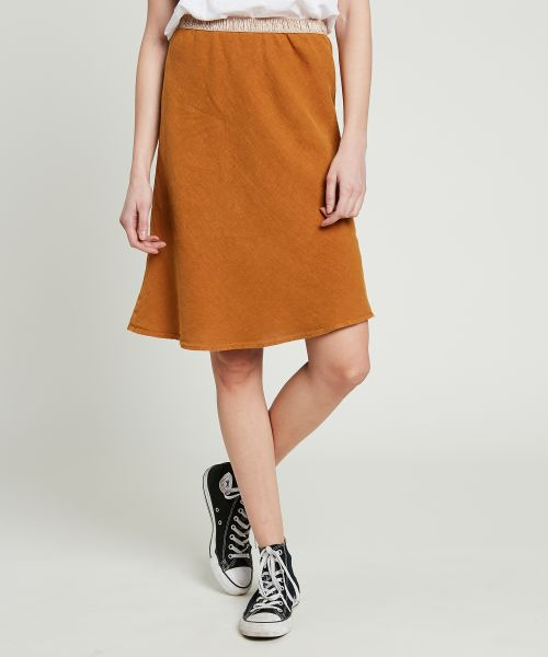 Spice brown linen Judith skirt