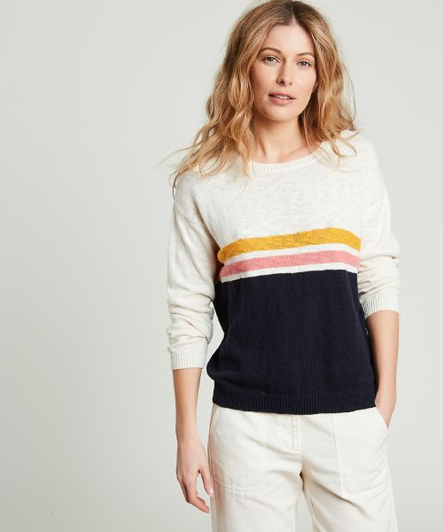 Matin striped slub cotton sweater