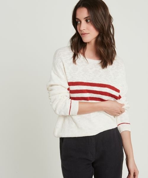 Mark striped slub cotton sweater