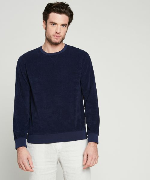 Navy towelling sweatshirt