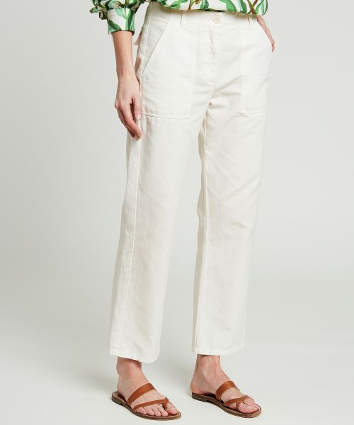 Off-white Pratt cotton and linen pants
