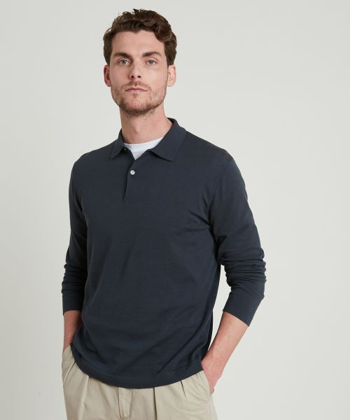 Pull forme polo carbone
