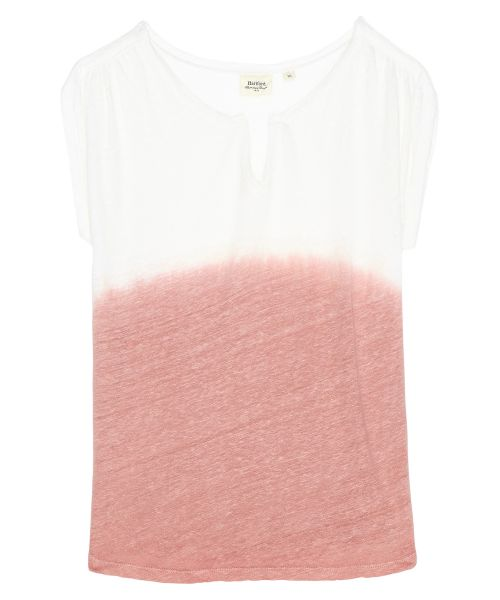 Tee-shirt Topanelle en lin dip dyed rose