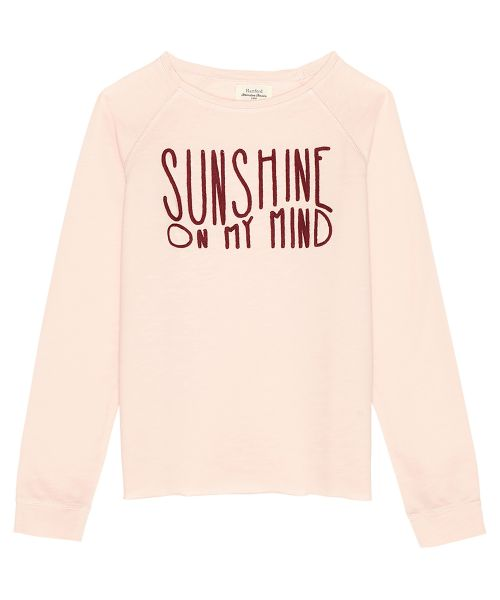 Sweatshirt 'Sunshine on my mind' rose