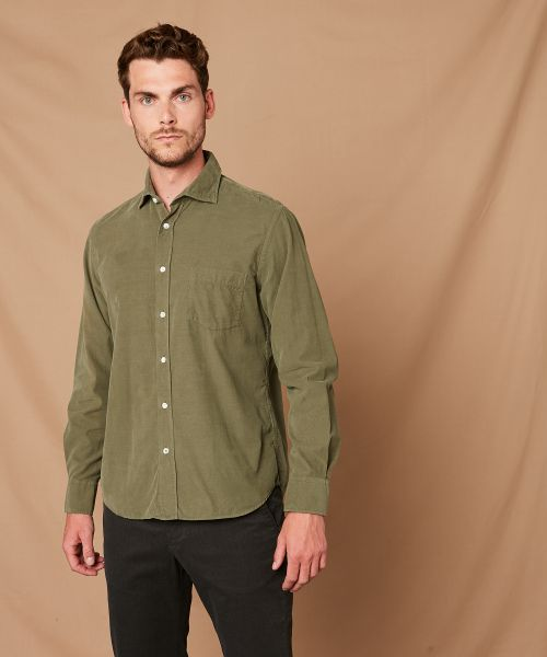 Green corduroy Paul regular shirt