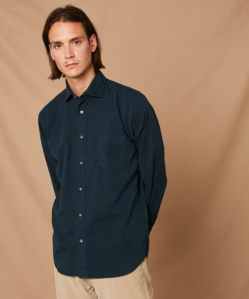 Charcoal Peach Twill Paul regular shirt