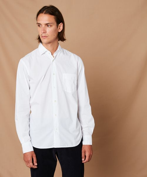 Cotton poplin Penn regular shirt