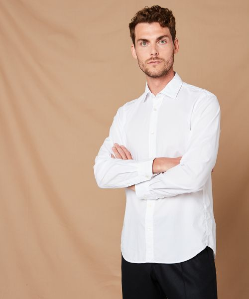 Cotton poplin Sammy slim-fit shirt