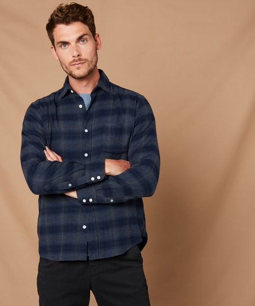 Checked flannel Paul regular shirt