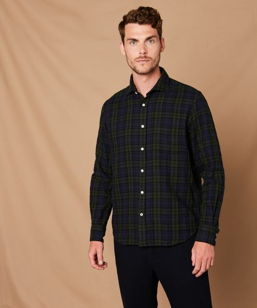Double-face cotton flannel Paul regular shirt