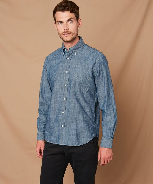 Chemise regular Pal en chambray