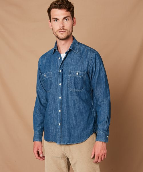 Chemise regular Pocket en denim