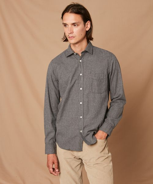 Cotton flannel slim-fit Storm shirt
