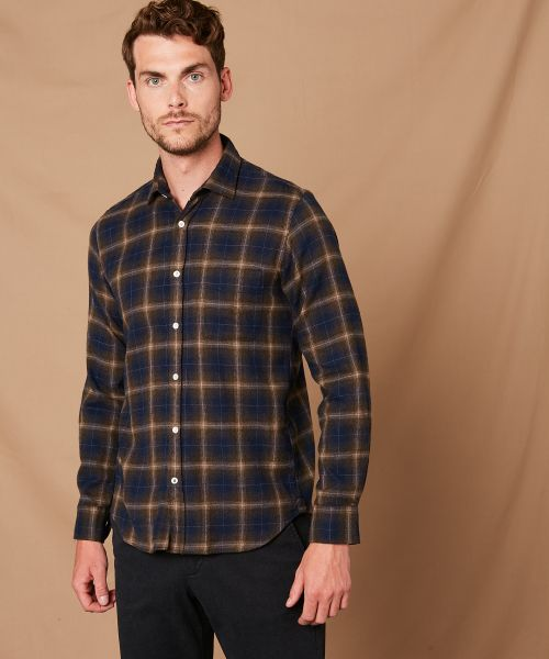 Checked flannel slim-fit Storm shirt