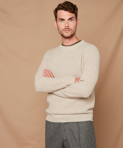 Rib wool and cashmere sweater