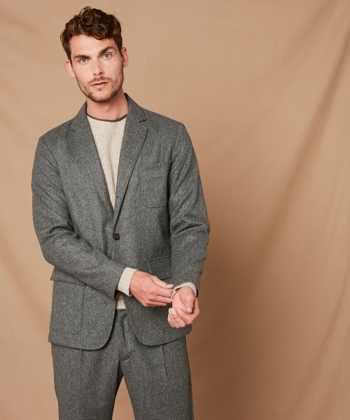 Grey flannel blazer Jet jacket