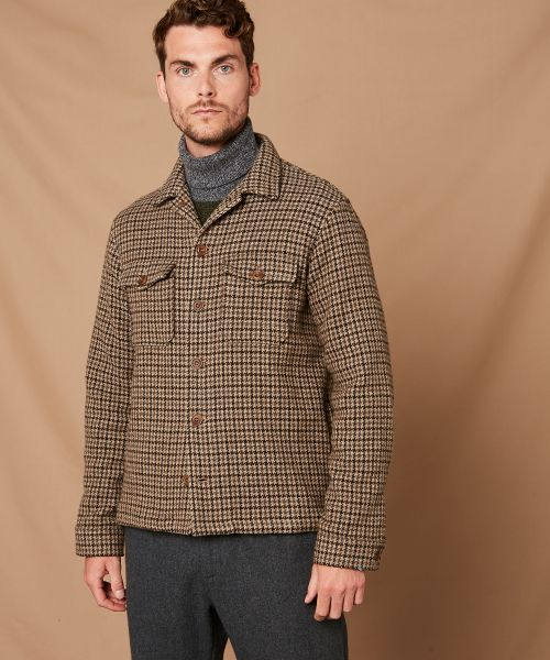 Houndstooth Daytona worker jacket in wool