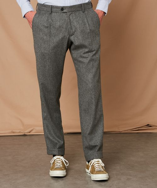 Grey flannel Teddy pants