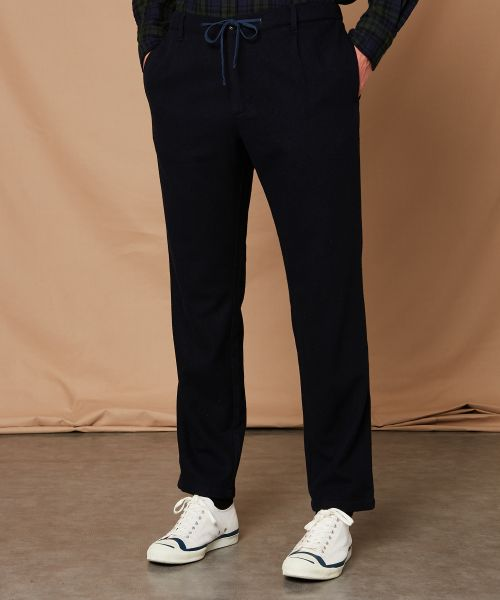 Navy washable wool Tanker pants
