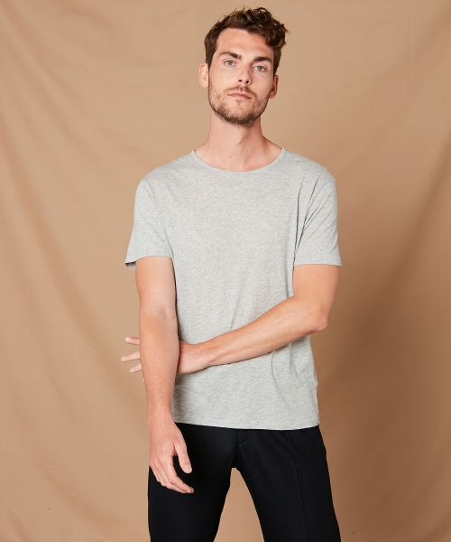 Heather grey light jersey tee-shirt