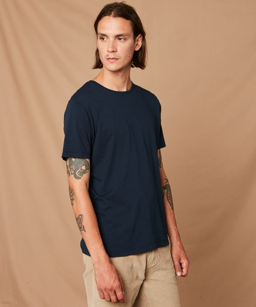 Navy light jersey tee-shirt