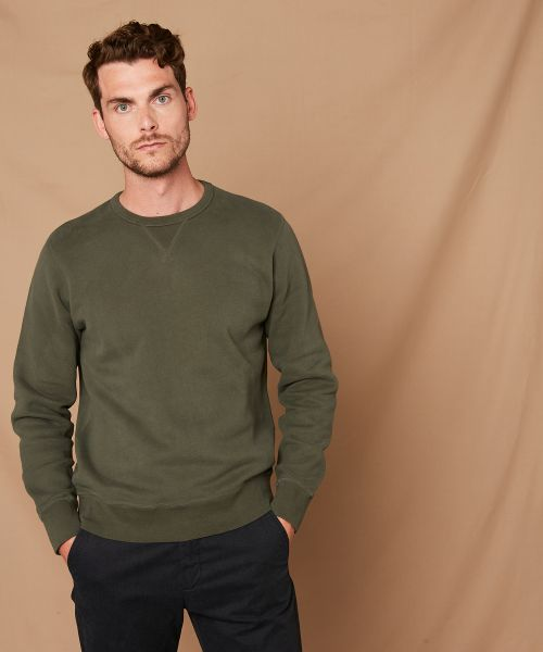 Sweatshirt en molleton French Terry vert