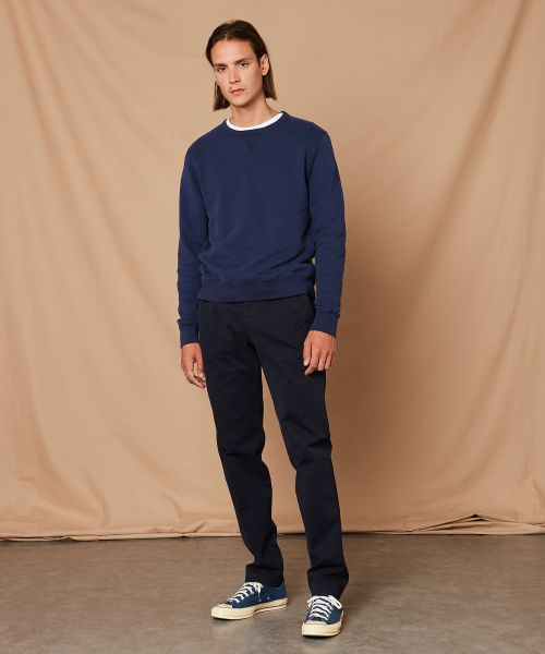 Sweatshirt en molleton French Terry bleu